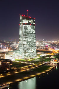 Europäischen Zentralbank und Osthafen, Frankfurt, Hessen, Deutschland