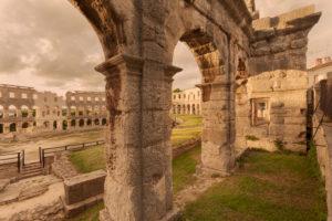 Roman amphitheatre, Pula, Istria, Croatia