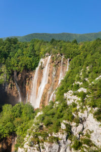 Wasserfall Veliki Slap, Nationalpark Plitvicer Seen, UNESCO Weltnaturerbe, Kroatien