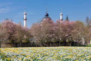 Germany, Baden-Wuerttemberg, Schwetzingen, mosque in the castle garden, spring