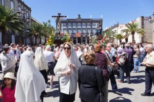 Osterprozession in der Altstadt Vegueta, UNESCO Weltkulturerbe, Las Palmas, Gran Canaria, Kanarische Inseln, Spanien