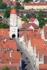 Löpsinger Tor, Nördlingen, Romantische Straße, Schwaben, Bayern, Deutschland