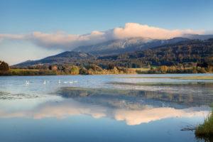 Grüntensee im Herbst, Allgäu, Oberbayern, Deutschland