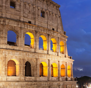Coliseum, Colosseo, UNESCO World Heritage Site, Rome, Lazio, Italy