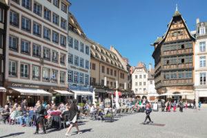 Kammerzell House on Münsterplatz Square, UNESCO World Heritage Site, Strasbourg, Alsace, Grand Est Region, France