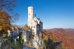 Schloss Lichtenstein, Schwäbischen Alb, Baden-Württemberg, Deutschland