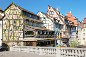 Pont St Martin, La Petite France, UNESCO Weltkulturerbe, Straßburg, Elsass, Frankreich