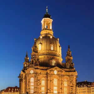 Turm der Frauenkirche, Dresden, Sachsen, Deutschland