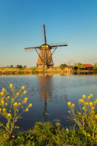 Windmill, Kinderdijk, UNESCO World Heritage Site, South Holland, Netherlands