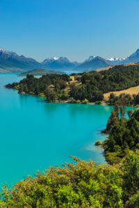 View across Lake Wakatipu to Mount Earbslaw; Queenstown, Otago, South Island, New Zealand, Oceania