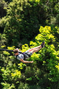 Bungee jumping from the Kawarau Bridge, Kawarau River Gorge, Queenstown, Otago, South Island, New Zealand, Oceania