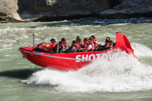 New Zealand, Queenstown, Otago, speed boat, tourists