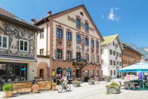 Gasthof zum Rassen, Ludwigstrasse, Partenkirchen district, Garmisch-Partenkirchen, Upper Bavaria, Bavaria, Germany