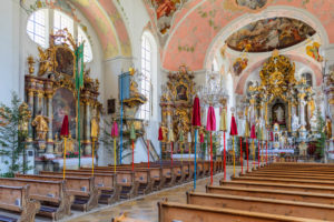 Parish Church of St. Peter and Paul, Oberammergau, Ammertal, Upper Bavaria, Germany