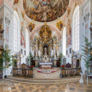Pfarrkirche St. Peter und Paul, Oberammergau, Ammertal, Oberbayern, Deutschland
