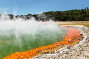 Champagne Pool, Wai-O-Tapu Thermal Wonderland, Rotorua, Bay of Plenty, Nordinsel, Neuseeland, Ozeanien