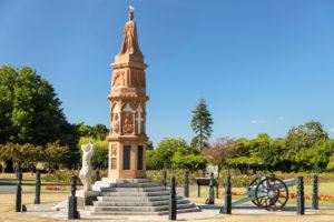 Arawa war memorial, Government Garden, Rotorua, Bay of Plenty, Nordinsel, Neuseeland, Ozeanien