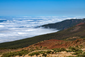 Trade wind clouds, Teide National Park, Tenerife, Canary Islands, Spain