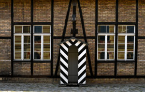 Guardhouse in front of drill hall, Citadel, Spandau district, Berlin, Germany