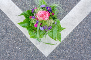 Bouquet on the street