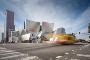 Walt Disney Concert Hall, big junction, Los Angeles