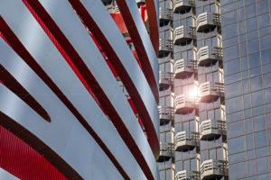 Facades, modern architecture, Petersen Automotive Museum Los Angeles, detail,
