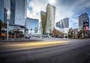 Las Vegas Strip in the evening light