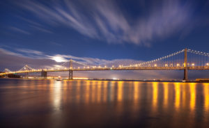 Bay Bridge, San Francisco, evening mood,