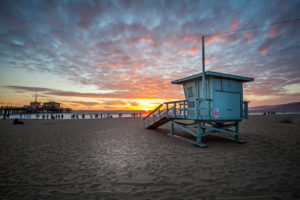 Los Angeles Beach, Sunset