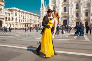 Fashion Editorial in front of Duomo di Milano