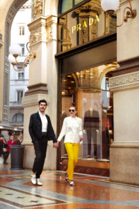 Fashion Editorial Mailand Galleria Vittorio Emanuele II