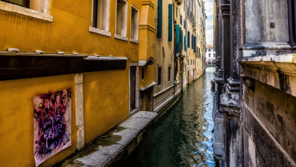 townscape with channel, Venice, Veneto, Italy
