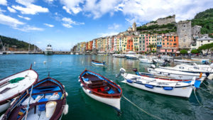 village view and fishing harbour, Porto Venere, Cinque Terre, Italy, Liguria, vacation