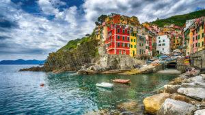 village view of Riomaggiore, Cinque Terre, Liguria, Italy