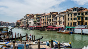 townscape with Grand canal, Venice, Veneto, Italy
