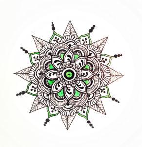 DIY, Zeichnung, Mandala,