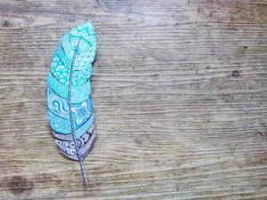 Feder, gezeichnet, Muster, Holz,