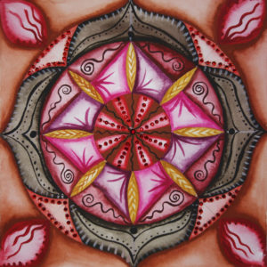 Mandala, Aquarell, Wurzelchakra
