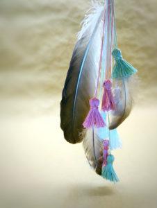 DIY, tassels, many, feathers