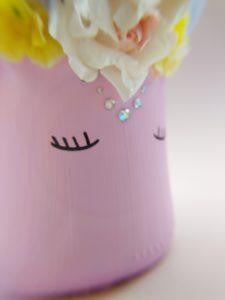 DIY, tinkering, pencil holder, unicorn, detail, blur,