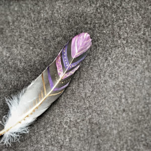 Feather, painted, pattern