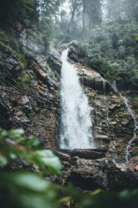 Germany, Bavaria, Allgäu, waterfall near Obersdorf