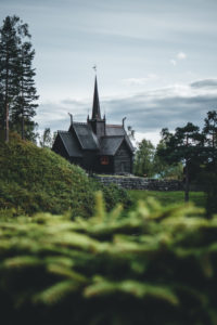 Norway, Oppland, stave church in Lillehammer