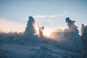 Germany, Saxony, Erzgebirge, Fichtelberg, winter landscape