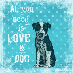 Illustration 'All you need is Love and a dog'