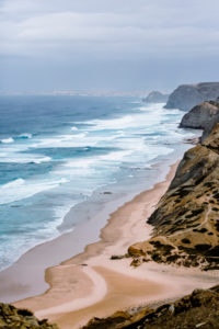 Scenic view over the cliffs of the wild west coast of Portugal