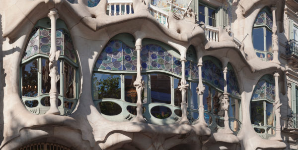 Casa Batllo, UNESCO Weltkulturerbe, Modernismus, Architekt Antoni Gaudi, Eixample, Barcelona, Katalonien, Spanien