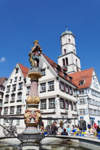 Church Saint Martin on the market square of Biberach an der Riss, Upper Swabia, Baden-Wuerttemberg, Germany