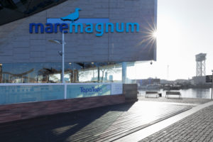Einkaufszentrum Maremagnum am Port Vell, Barcelona, Katalonien, Spanien