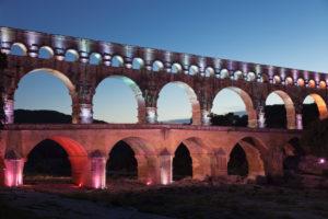 Pont du Gard, Roman aqueduct, UNESCO world heritage, Gard river, Languedoc-Roussillon, the South of France, France